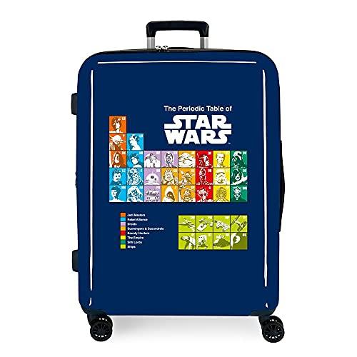 Star Wars Badges Maleta Mediana Azul 48x70x26 cms Rígida ABS Cierre TSA Integrado 81 3 kgs 4 Ruedas Dobles