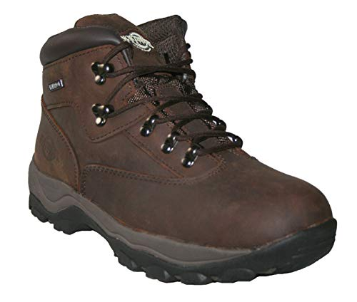 Northwest Territory Mens Leather Waterproof Walking Hiking Trekking Work Boots (Brown Waxy Inuvik, Numeric_11)