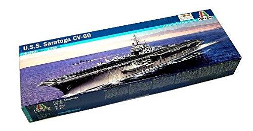 RCECHO® ITALERI Military Model 1/720 War Ship U.S.S. Saratoga CV-60 Hobby 5520 T5520 with 174; Full Version Apps Edition