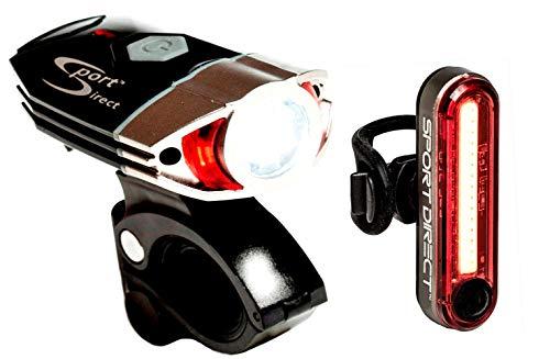 Sport Direct USB recargable LED bicicleta luz conjunto 530 l
