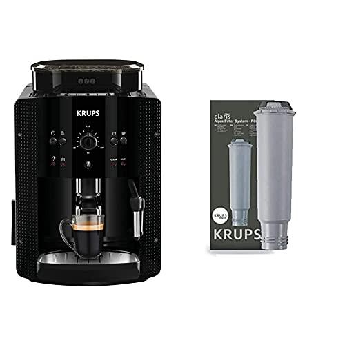Krups EA81R8 Essential Cafetera súper-automática, 15 bares de presión + F08801 Filtro de Agua para cafeteras Claris, con iones y carbón activado de plata
