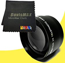 77mm 2x Telephoto Lens for Sony Alpha SLT-A37 with Sony 24-70 f/2.8 Carl Zeiss Lens + DavisMAX Fibercloth Lens Bundle
