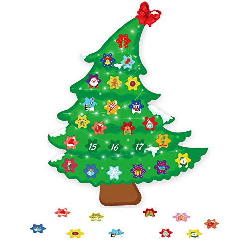 luck sea Christmas Tree Countdown Advent Calendar Xmas Refrigerator Magnets Decorations Crafts Ornaments for Kids Favor Party Supplies