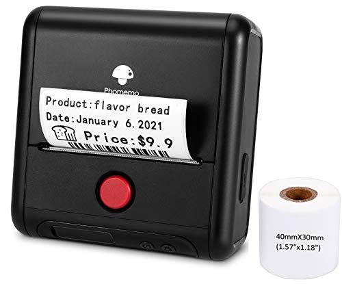 Phomemo M200 - Impresora de etiquetas térmicas con Bluetooth de 3 pulgadas de 80 mm para pequeñas...