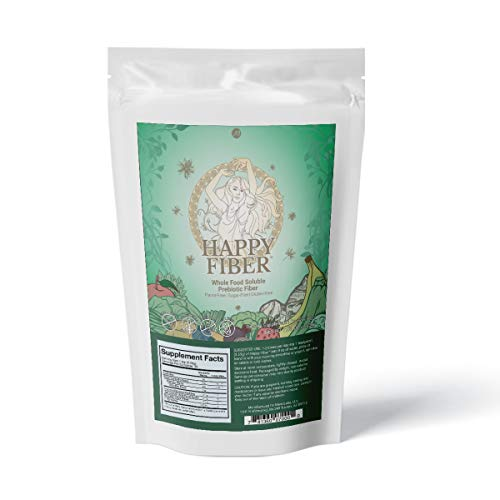 Happy Fiber by MenoLabs - Doctor-Formulated Triple Fiber Supplement for Women with L-Tyrosine - MenoFit Probiotic Enhancer, Natural Weight Loss, Metabolism Booster - Supports Digestion & Mood Balance