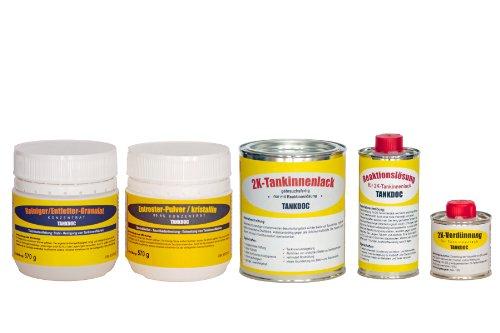 Tankdoc Tanksanierungs Box 5-teilig für 15+ Liter Tank Farbe lichtgrau (Box 15+ lichtgrau)