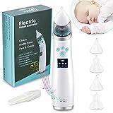 Aspiratore nasale neonato,aspiratore nasale elettrico,Ricarica USB, modalità silenziosa e musica, con 3 ventose e 4 ugelli riutilizzabili (adatti ai bambini)