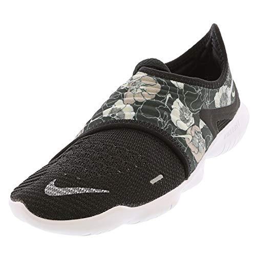 Nike Women's Free Rn Flyknit 3.0 FLR Black/White Ankle-High Running - 9.5M