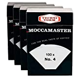 Technivorm Moccamaster 85022 Filter N°4 paper, White | Pack 4 boxes x 100 filters