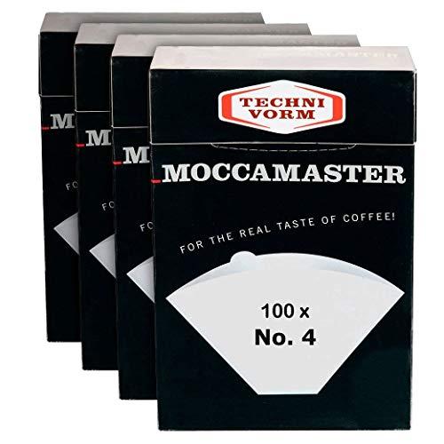 Technivorm Moccamaster 85022 Filter N°4 Filterpapier, weiß | Pack 4 Boxen x 100 Filter
