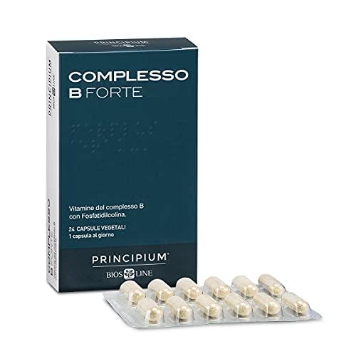 Bios Line Complesso B Forte 24 Capsule Vegetali - 1 Capsula al Giorno - Vitamine del Complesso B con Fosfatidilcolina