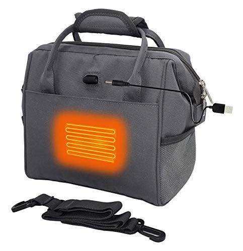 ZenCT 保温バッグ USBヒーター内蔵 電熱バッグ ランチバッグ 保温バッグ 大容量 通勤 通学 食品収納 お弁当 保温 保冷 ショルダーベルト付き 2way 防水 男女兼用 CT095