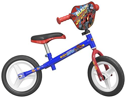 """TOIMSA 124–Bicicleta sin pedales para niños–10""""–Blaze y los Monster máquina–de 3años–azul–-Azul"""