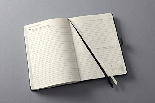 Sigel C2210 Conceptum Daily Planner 2022-14,8 x 21,3 cm – hardcover – 400 Pages – Black