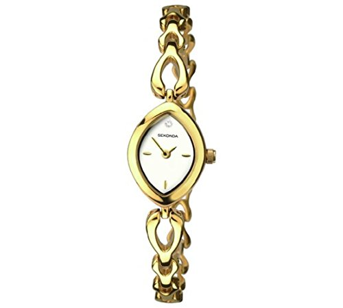 Sekonda - Reloj de Pulsera Chapado en Oro con dial Blanco y...