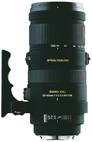 Sigma 120-400/4,5-5,6 DG OS APO HSM - Objetivo para Nikon (Distancia Focal 120-400mm, Apertura f/5.6, estabilizador) Color Negro