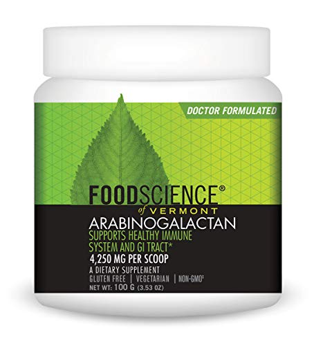 FoodScience of Vermont Arabinogalactan Powder, Immune and Digestive System Support, 3.53 oz
