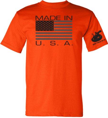 Made in USA T-Shirt - Safety Orange - Large