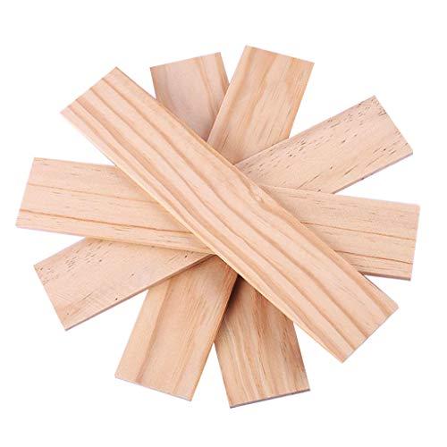5pcs / Set Basteln DIY Holz Platte Holzbrett Bastelbedarf Bastelholz Baumaterial - 250 x 50 x 5 mm