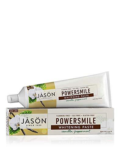 Jason Powersmile Whitening Fluoride-Free Toothpaste, Vanilla Peppermint, 6 Oz