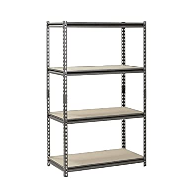 Muscle Rack UR361860PB4P-SV Silver Vein Steel Storage Rack, 4 Adjustable Shelves, 3200 lb. Capacity, 60  Height x 36  Width x 18  Depth