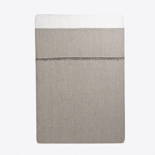 LA MALLORQUINA Colcha - Flecos (Cama 180 o 200cm - 260x270cm - Plata) | Colcha de Verano y Entretiempo Multiusos de Diseño