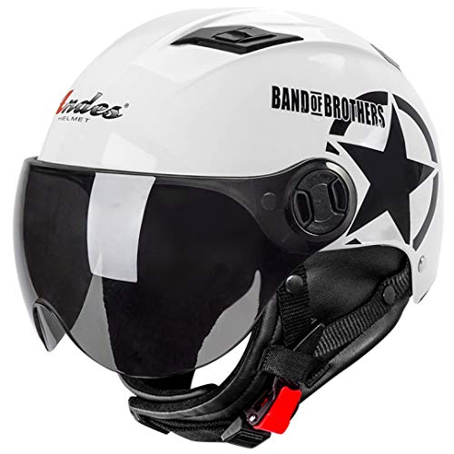 OLEEKA Motorradhelm Männer Frauen Half Open Face Helm Retro Vintage Biker Roller Moto Casco Capacetes Motorradhelm
