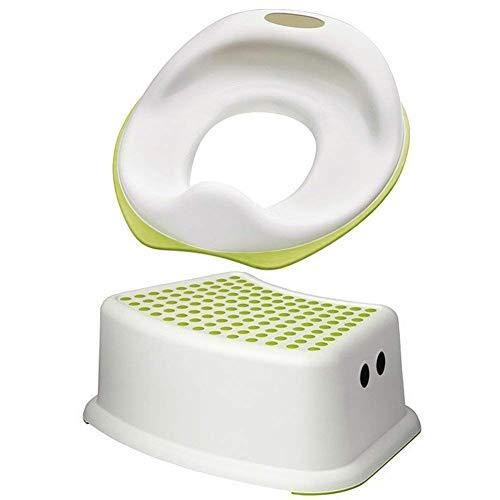 IKEA Tossig 102.727.88 Unisex Kleinkind WC Sitz Bündelt mit Forsiktig 602.484.18 Stufenhocker Sitz weiß und grün