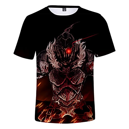 YOILYDI-Goblin Slayer-Unisex 3Dt Shirt, Interesting Pattern, Breathable Polyester Material,Slim Polo Shirt,Boy Street Clothes-XL