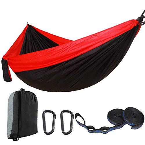 WYW 270 * 140CM Camping Hamaca,Nylon Portátil Paracaídas Secado Rápido,Mosquitero Hamaca Ultra Ligera para Viaje y Camping,Adecuado para Viajes Al JardíN Al Aire Libre, Senderismo y Camping,1