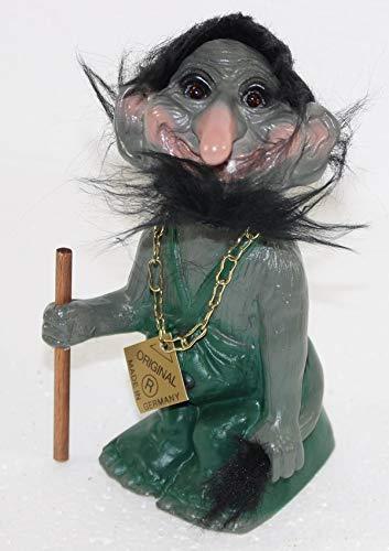 RAKSO Souvenir Wackel Figur Wurzelsepp klein Wackelfigur Deko Sammlerfigur Original mit beweglichem Kopf H 14 cm