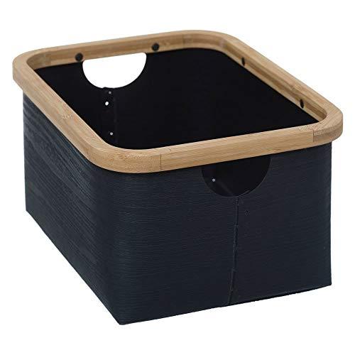 5five Boîte de Rangement avec poignées 28,8 x 28,8 x 15 cm Noir