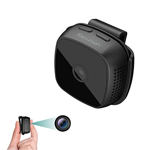 Mini Hidden Spy Camera 1080P,Indoor Security Nanny Camera,Outdoor Wearable Covert Camera,Portable Small HD Cam with Video Night Vision Motion Detection Timing Capture,Built-in Battery Long Recording