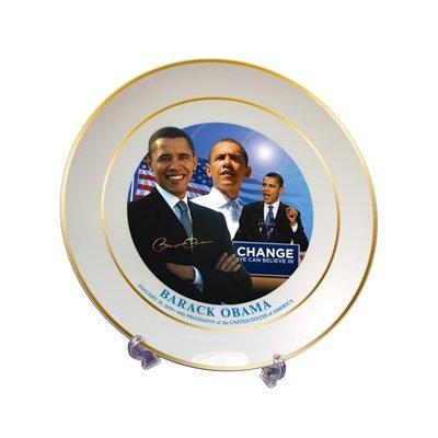 Barack Obama Commemorative Inauguration Plate with Stand -  First Commemorative Mint, B0078SAI9A