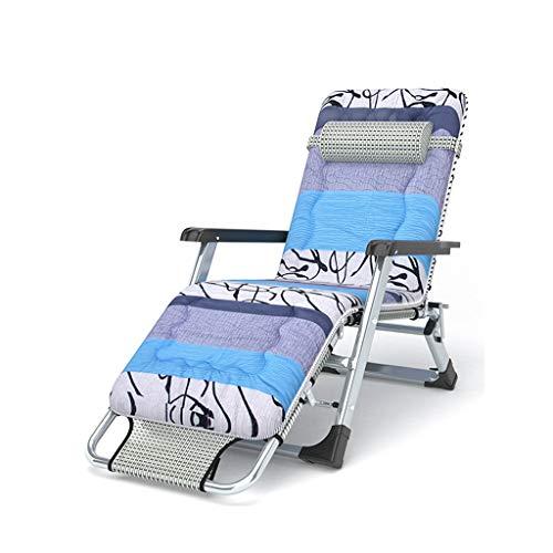 ZZSJC HOME Klappbarer Liegestuhl, Schwerlast-Schwerelosigkeitsstühle, Strandstühle, Liegestühle, Strandpatio-Gartencampingstühle, Liegestuhldeck, Superbreite 67 cm (Color : 9 Single Side Cotton pad)