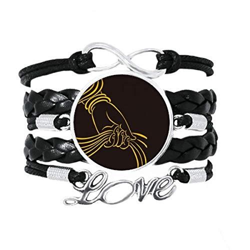 DIYthinker Culture Religion Handschal-Armband, Liebesaccessoire, gedrehtes Leder, Strickseil, Geschenk