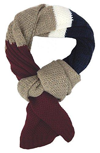Ella Jonte Écharpes foulard d'homme hiver élégant et tendance de la dernière collection by Casual-style rouge bleu beige