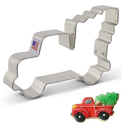 Ann Clark Cookie Cutters Extra Large Vintage Pickup Truck with Christmas Tree Cookie Cutter, 5""