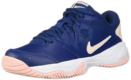 Nike Nikecourt Lite 2, Scarpe da Tennis Donna, Multicolore (Coastal Blue/Echo Pink-Storm Pink-White 400), 38.5 EU
