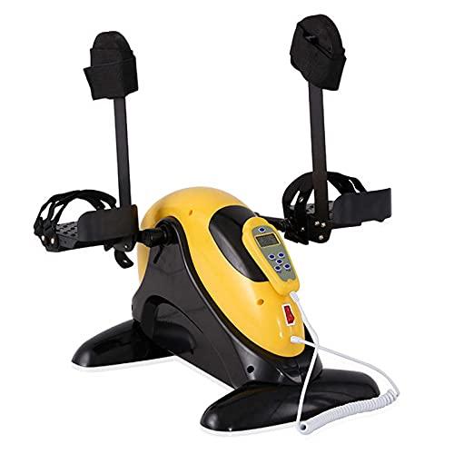 yunyun Mini Bicicleta Estática,Máquinas De Piernas De Apartamento Digital Y Pedal Antideslizante Pedal para Entrenamiento De Brazos Y Piernas para Fitness Under Desk Bike