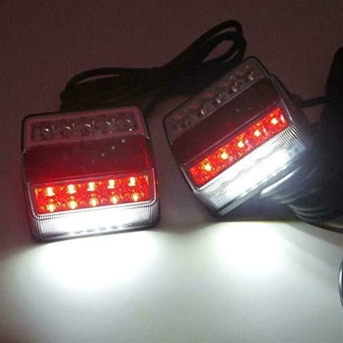 2pcs Universal Trasera LED Sumergible Remolque Luces Kit de Marcador en Barco Carro 12V 15LED Las Luces traseras del Remolque campistas Indicador de Energía