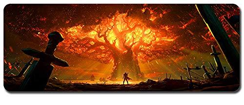World of Warcraft großes Mauspad - wasserdicht und rutschfest (86, 900 * 400 * 3MM/35.5 * 15.7 * 0.12inch)