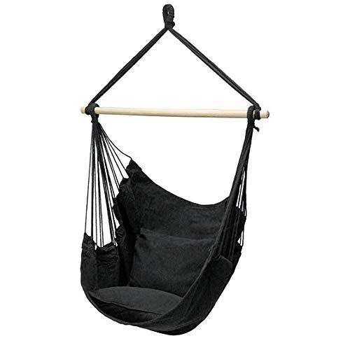 sailorth Hamac Swing Chair Enfant Adulte Jardin Swing Indoor Outdoor Lawn Hanging Chair Noir/Bleu/Orange/Rouge/Blanc