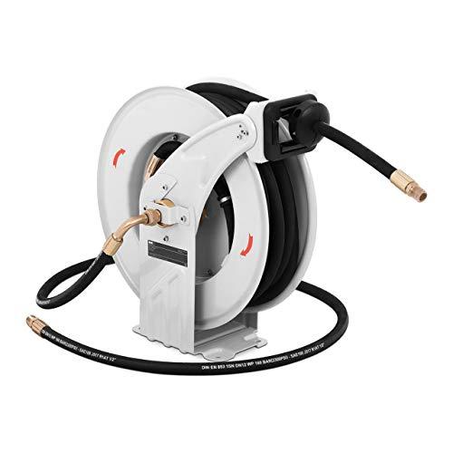 MSW MSW-PHR15 Hochdruck-Schlauchtrommel Hochdruckreiniger Schlauchtrommel utomatik Schlauch Aufroller 15 m 180 bar