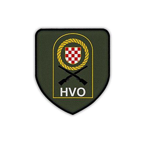 Copytec Patch/Aufnäher - HVO Hrvatsko vije?e obrane Kroatischer Verteidigungsrat Kroatien Kroatische Republik Herceg-Bosna Armee Bosnien Herzegowina Kroatisch Militär Wappen Abzeichen Emblem #19238