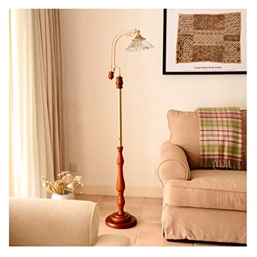 MYBA Lámpara de pie LED con pantalla de cristal y baldosas, base de la lámpara E27, moderna de pie, lámpara de dormitorio, salón, oficina o pie (color: C)
