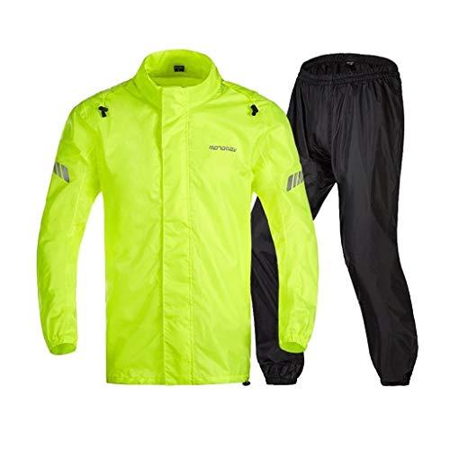 YDS Shop waterdicht sportpak voor volwassenen, regenjas en regenbroek, dubbel gevoerd, klittenbandsluiting voor meer comfort, split-design, geschikt voor uitstapjes of reizen X-Large A