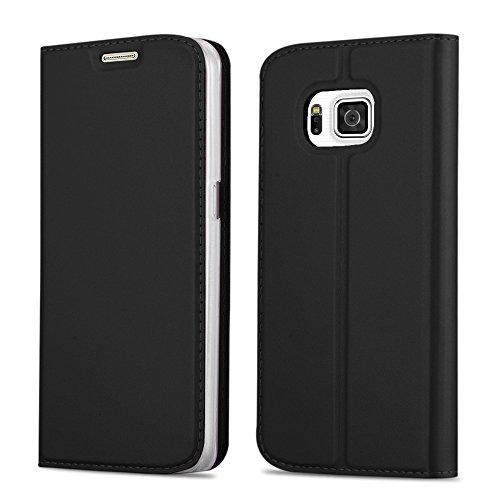Cadorabo Funda Libro para Samsung Galaxy Alpha en Classy Negro - Cubierta Proteccíon con Cierre Magnético, Tarjetero y Función de Suporte - Etui Case Cover Carcasa