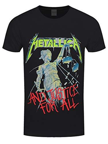 Metallica And Justice for all (Original)_Men_bl_TS: S T-Shirt, Nero (Black Black), Small Uomo