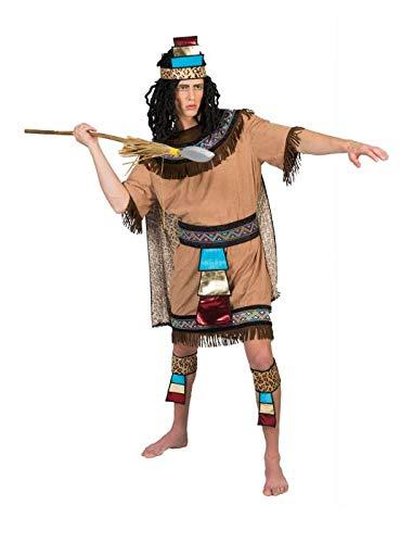 Funny Fashion Disfraz de Azteca Flecos para Hombre L